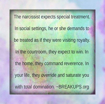 Narcs Expect Special Treatment