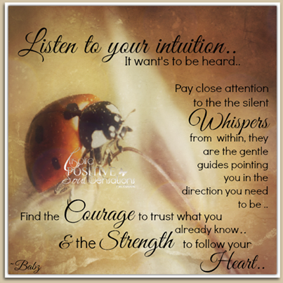 Listen To Intuition