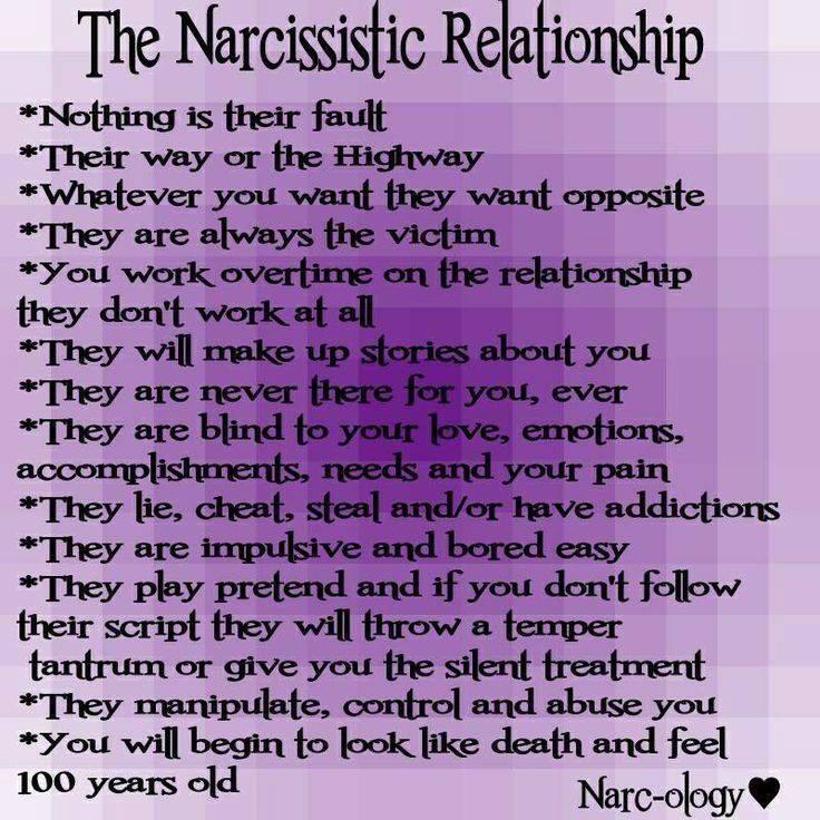 Leaving a narcissistic relationship