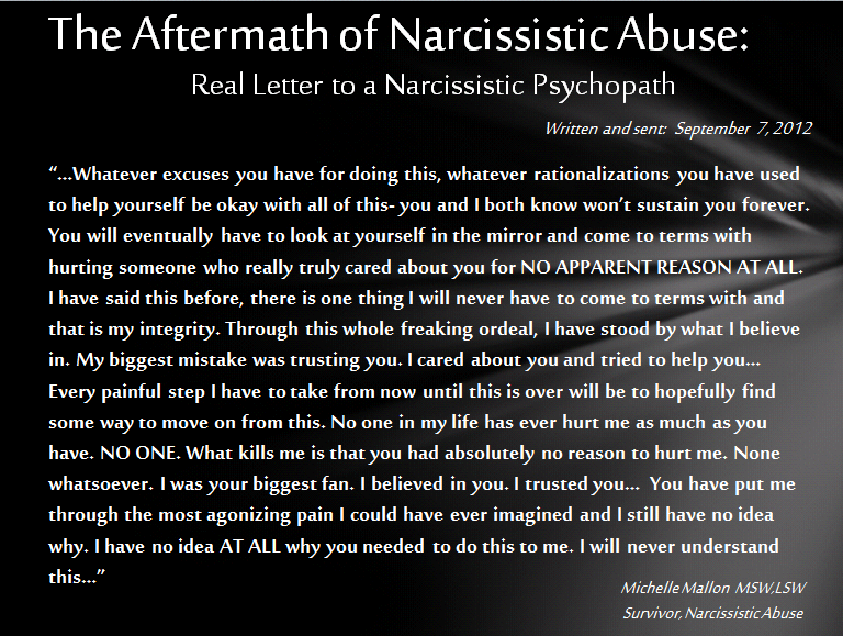 Moving on after narcissistic abuse
